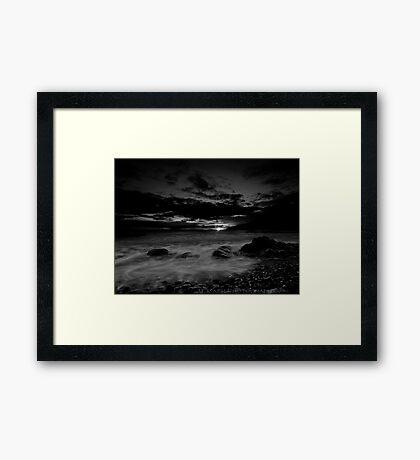 Celtic Sunset in mono Framed Print