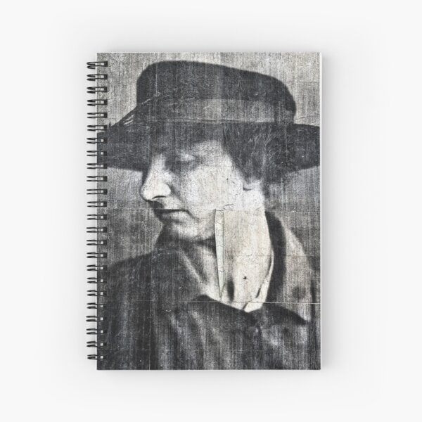 Woman on a wall Spiral Notebook