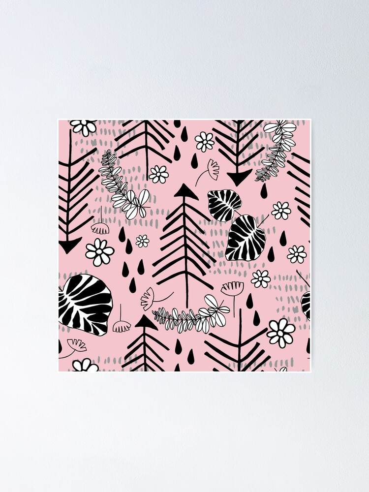 Alternative Ansicht von Bäume und Skizzen Poster