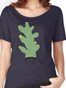 Cactus Hat Hipster Street Wear Women's Relaxed Fit T-Shirt