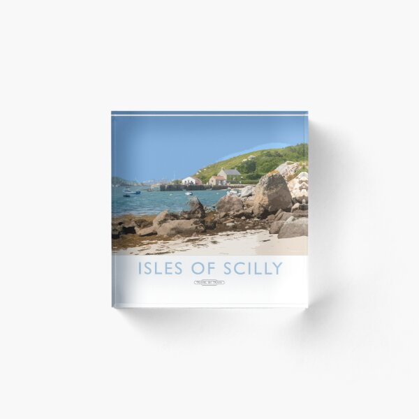Isles of Scilly Acrylic Block