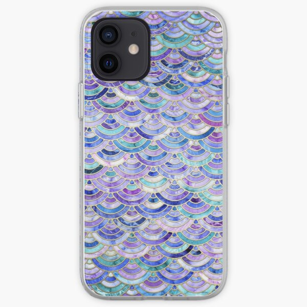 Marble Mosaic in Amethyst and Lapis Lazuli iPhone Soft Case