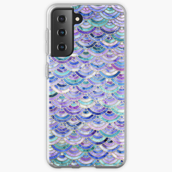 Marble Mosaic in Amethyst and Lapis Lazuli Samsung Galaxy Soft Case