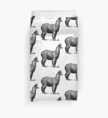 Alpaca Vintage Illustration Duvet Cover