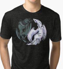 Pokemon YinYang- Reshiram and Zekrom Tri-blend T-Shirt
