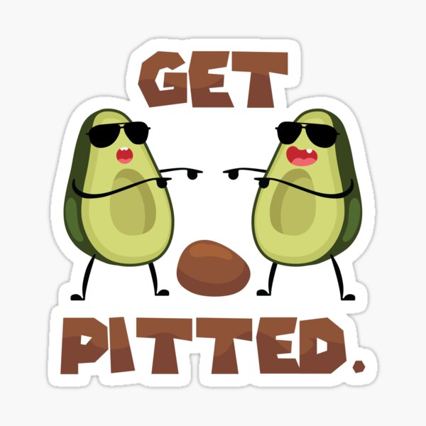 Get Pitted I Funny Surfer Graphic Avocado Gift graphic Sticker