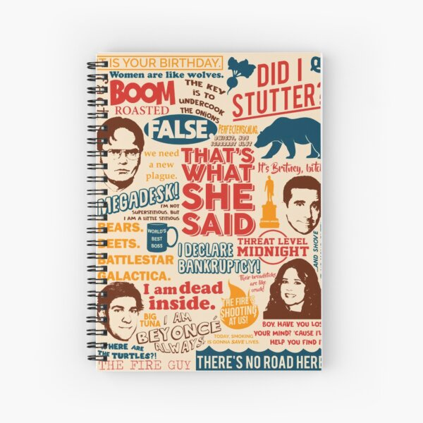 """All the Best Quotes from The Office - """"That's What She Said""""! Spiral Notebook"""