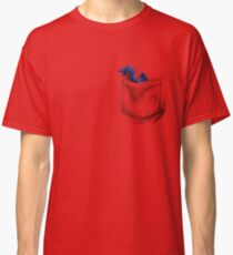 Little Dragon In My Pocket 1 - Blue Classic T-Shirt