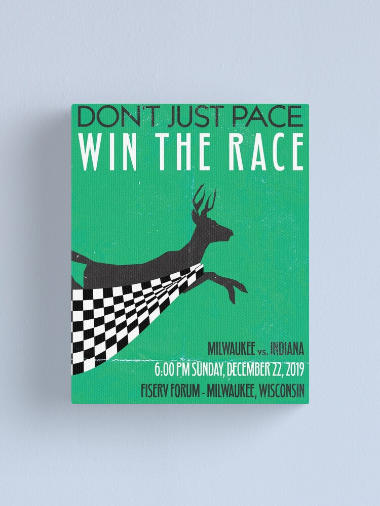 Alternate view of Don't Just Pace, Win the Race Canvas Print