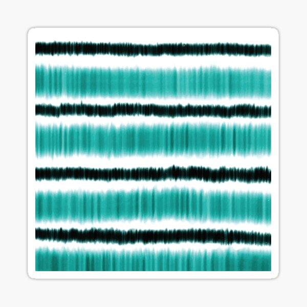 Blue and White Watercolour Horizontal Stripes Sticker