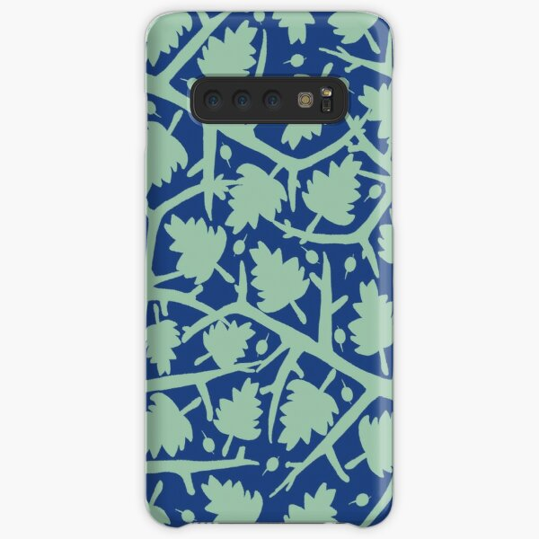 Hawthorn Tree pattern blue/mint Samsung Galaxy Snap Case