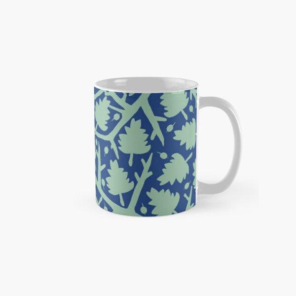 Hawthorn Tree pattern blue/mint Classic Mug