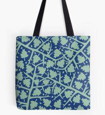 Hawthorn Tree pattern blue/mint Tote Bag