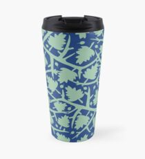 Hawthorn Tree pattern blue/mint Travel Mug