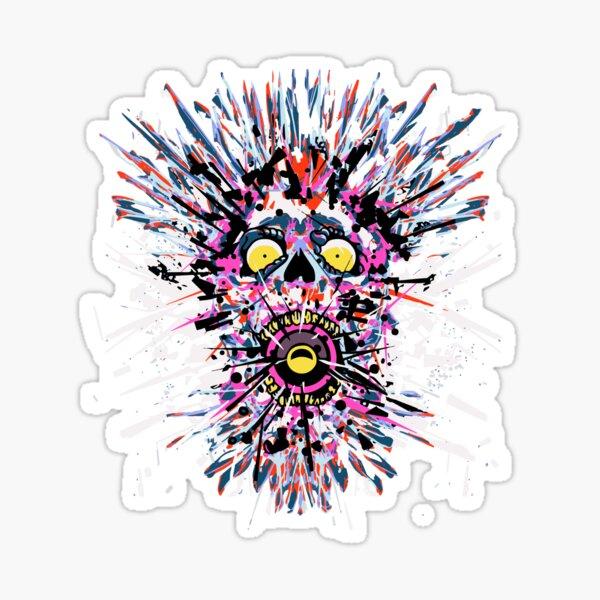 SKULL TECHNO Sticker