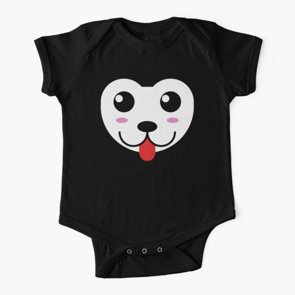 Husky bebé perrito (Baby  husky dog) Body de manga corta para bebé