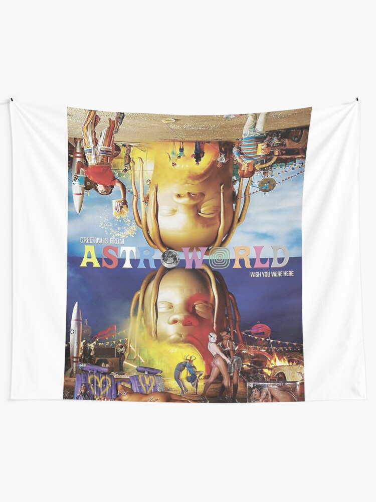 Astroworld Festival Wall Tapestry Travis Scott For Wall Hanging Tapestry