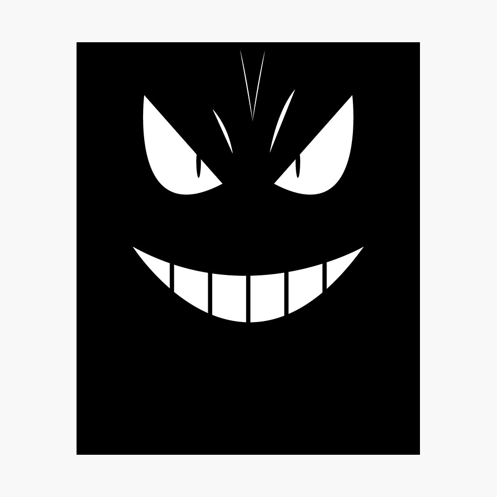 Anime Manga Merch Scary Monster Face Poster By Mintos Redbubble