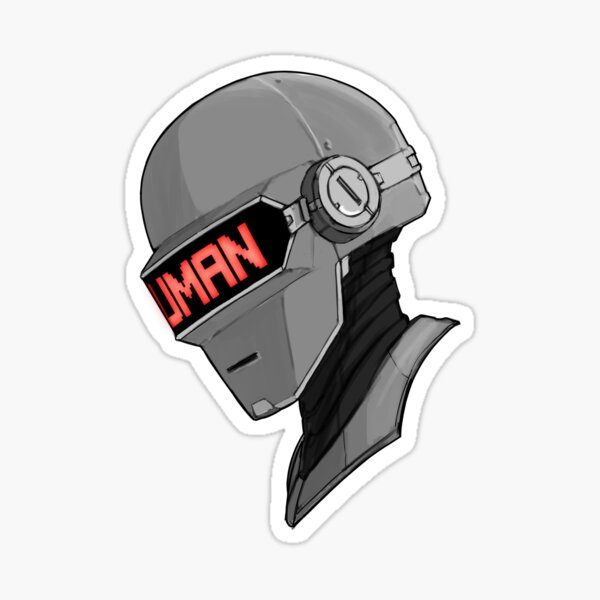 Daft punk helmet fanart Sticker
