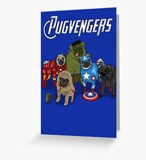 The Pugvengers Greeting Card