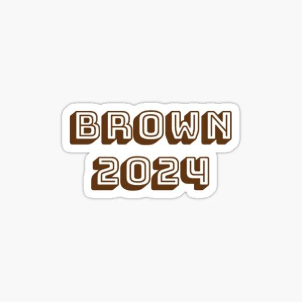 Brown 2024 Glossy Sticker