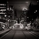 Collins St Tram Stop by Andrew Wilson