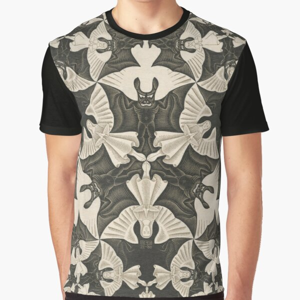 Escher - Circle limit IV (heaven and hell)  Graphic T-Shirt