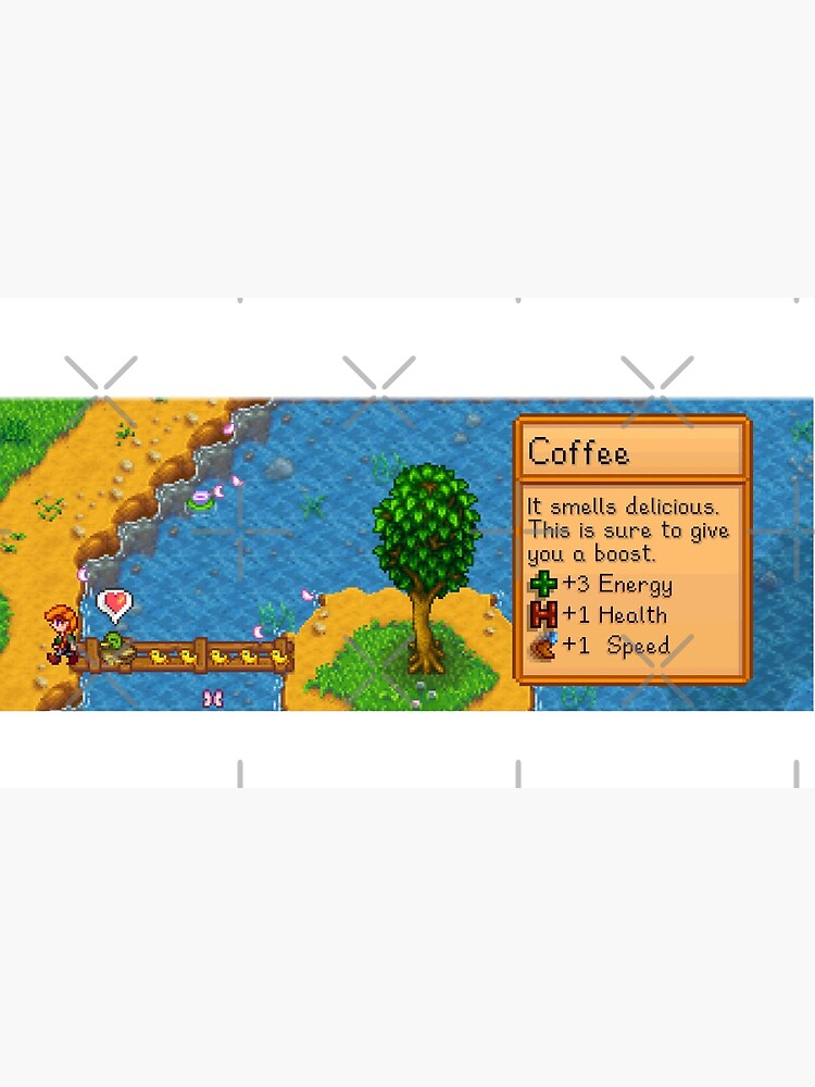 Stardew valley coffee with ducklings by DinoScourge
