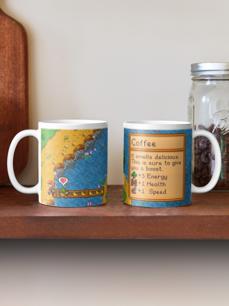 Alternate view of Stardew valley coffee with ducklings Mug