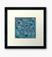 Fun Teal Abstract Piece Framed Print