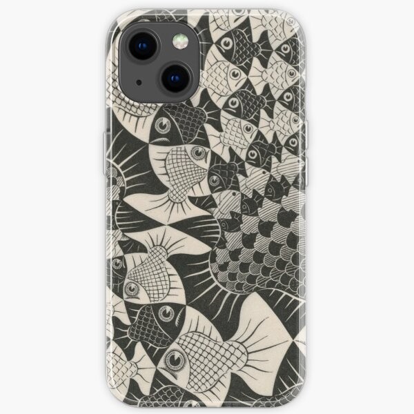 Escher - Fishes and scales iPhone Soft Case
