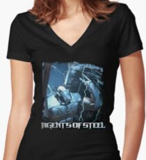 Agents Of Steel 3 Women's Fitted V-Neck T-Shirt