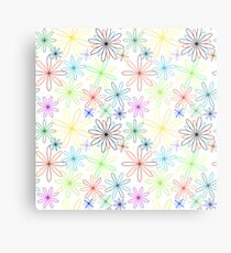 colored flowers abstract pattern extended Metallbild
