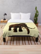Mammoth, prehistoric times, ice age, animals Throw Blanket