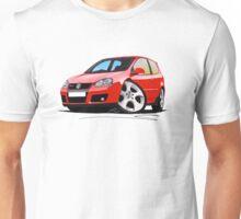 VW Golf GTi (Mk5) Red Unisex T-Shirt