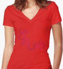 lies, lies, lies. Women's Fitted V-Neck T-Shirt