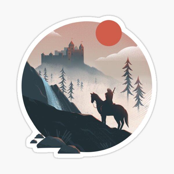 Geralt on the Ride Sticker