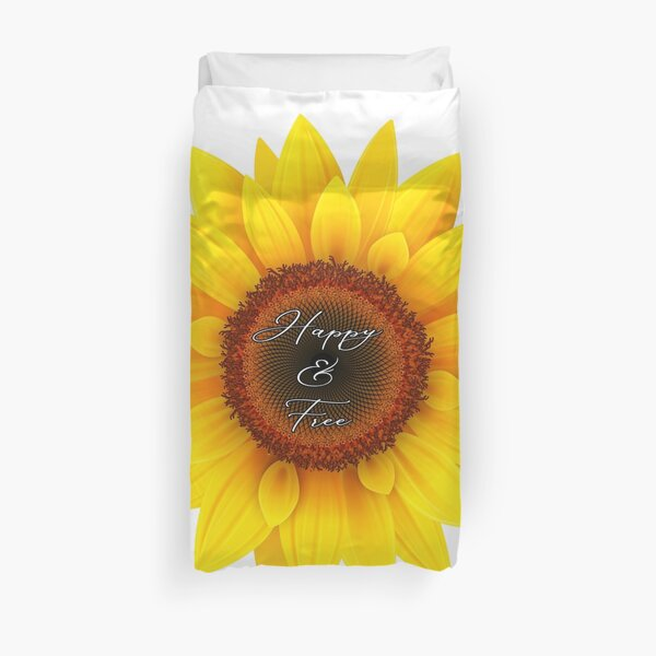Happy and free sunflower Duvet Cover