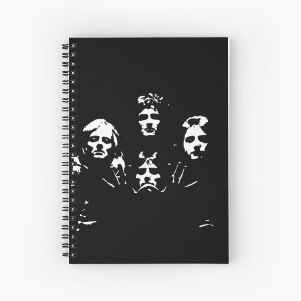 Queen Black and White Spiral Notebook