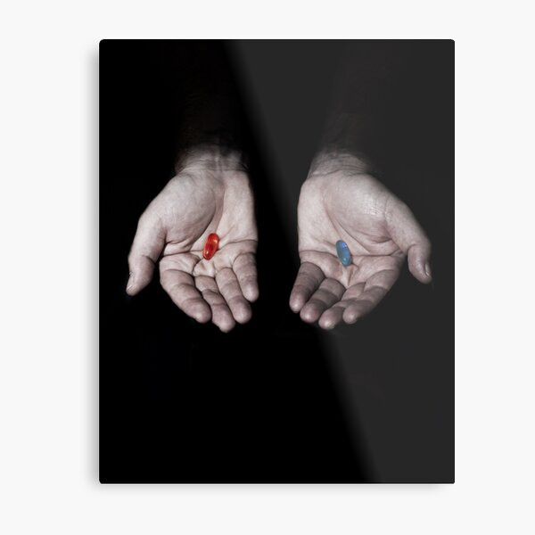 THE MATRIX: RED PILL OR BLUE PILL? Metal Print