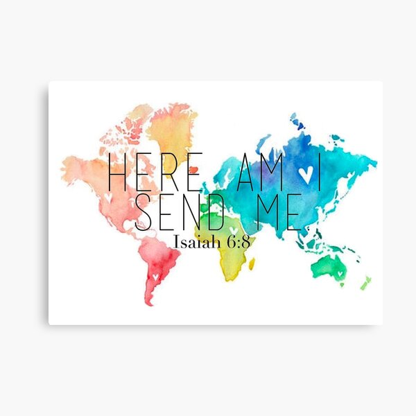 Here am I, Father Canvas Print