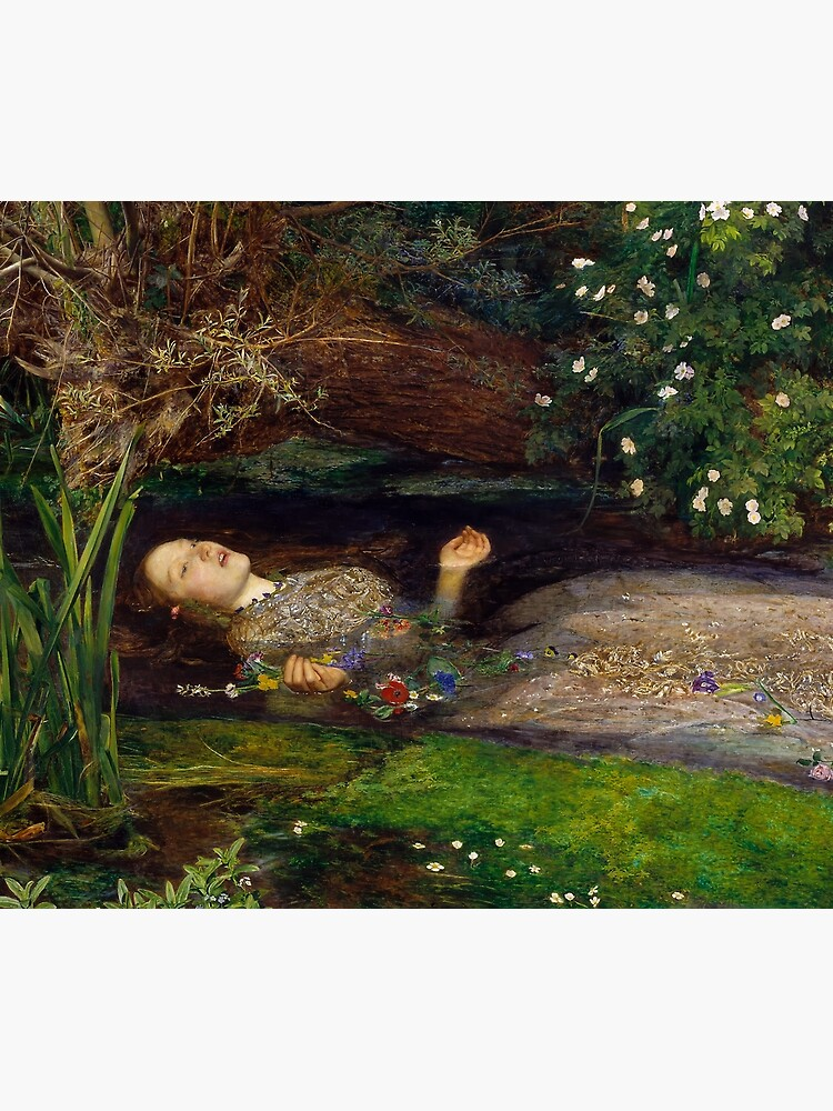 Ophelia by John Everett Millais (1851) by allhistory