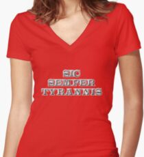Sic Semper Tyrannis Fitted V-Neck T-Shirt