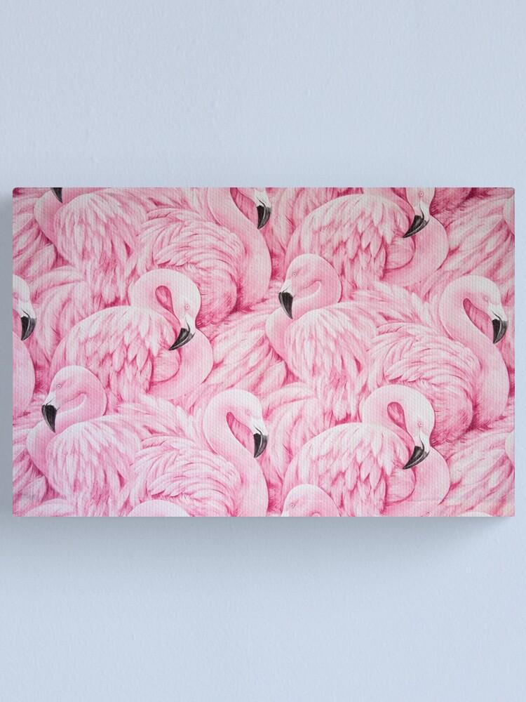Alternate view of Pink Flamingo Art Canvas Print