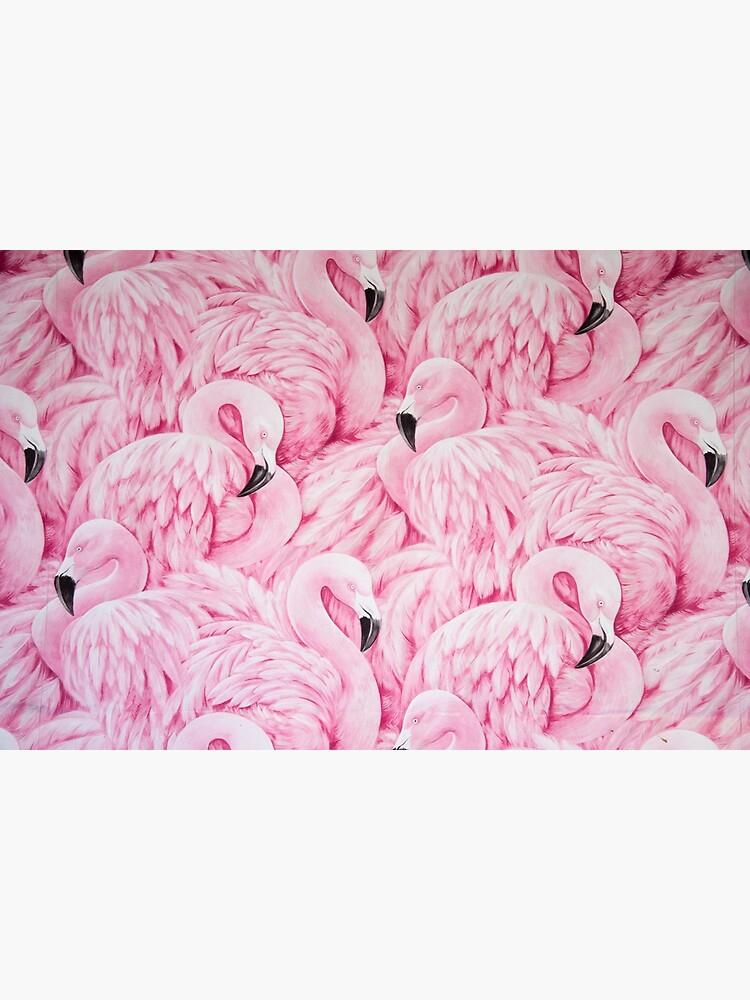 Pink Flamingo Art by newburyboutique