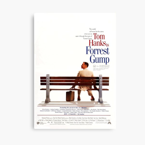 Forrest gump poster Impression sur toile