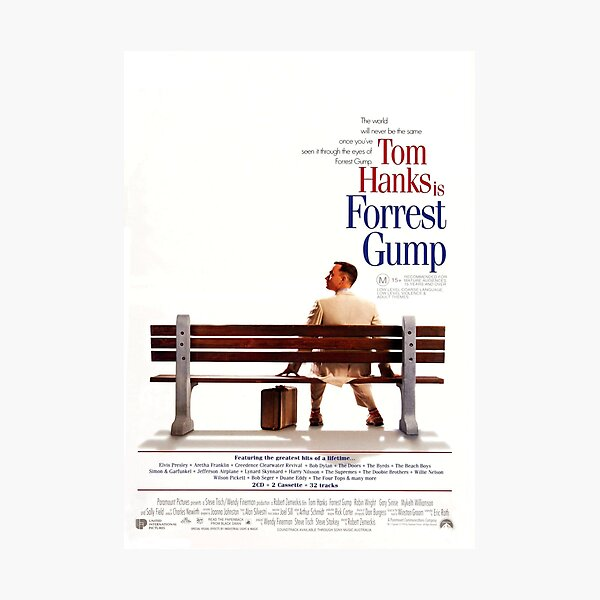 Forrest gump poster Photographic Print