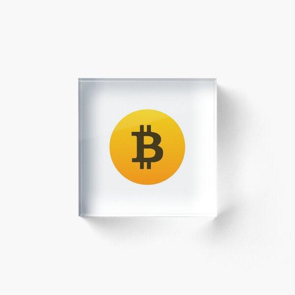 Bitcoin Logo Gradient Acrylic Block