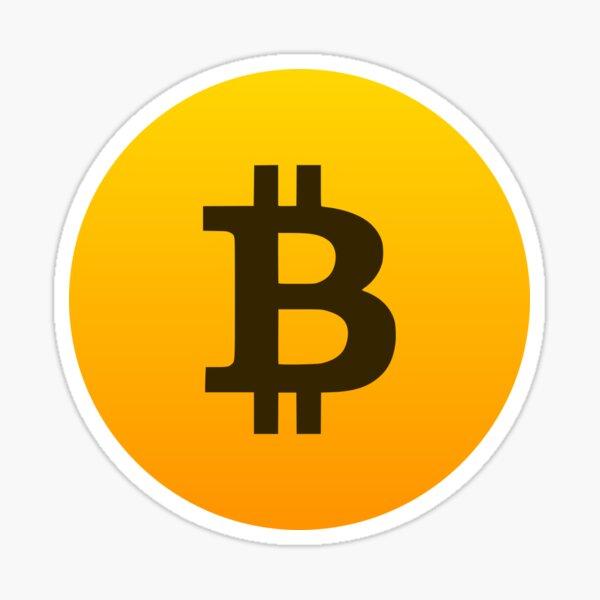 Bitcoin Logo Gradient Sticker