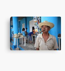 Cigar smoking Cuban - Viñales Canvas Print
